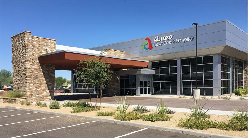 Construction Wraps on Abrazo Cave Creek Hospital in Phoenix Area